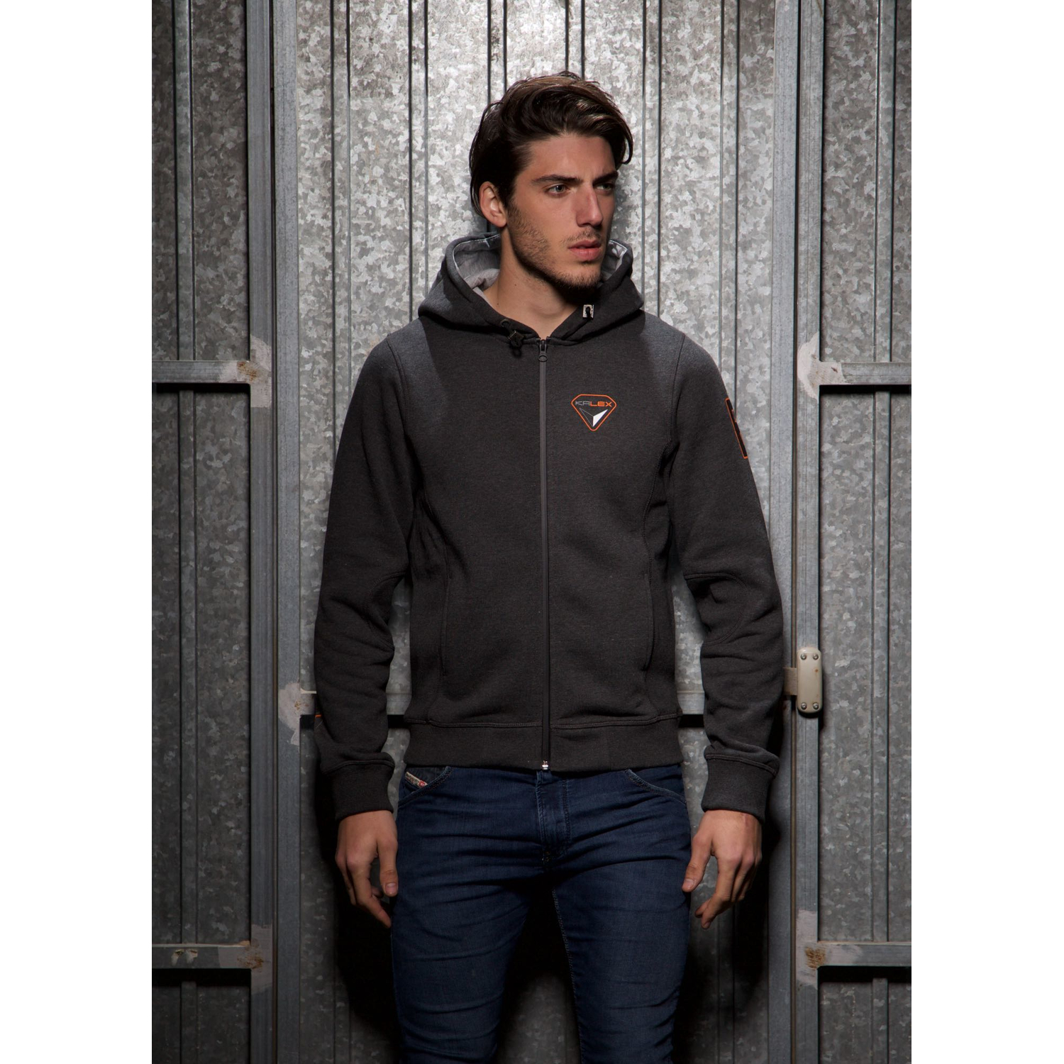 SWEATJACKET ANTHRACITE HEATHER M