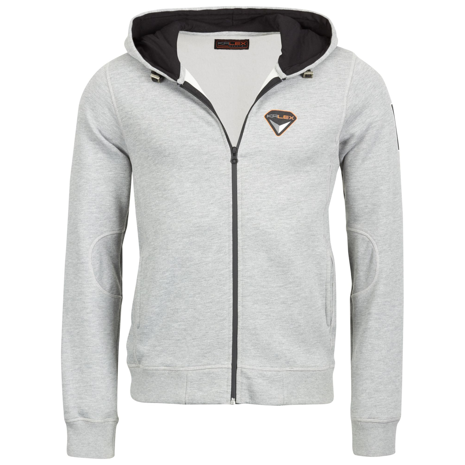 SWEAT JACKE GRAU MELANGE XL