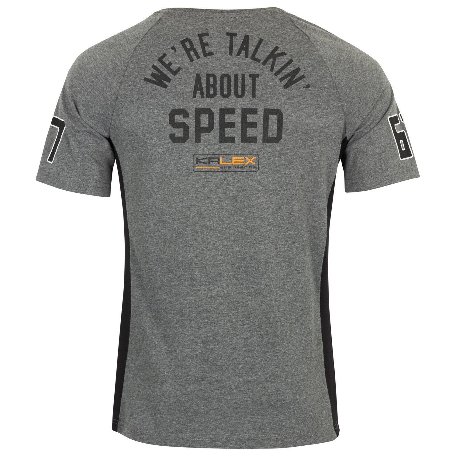 T-SHIRT SPEED DRUCK GRAU XL