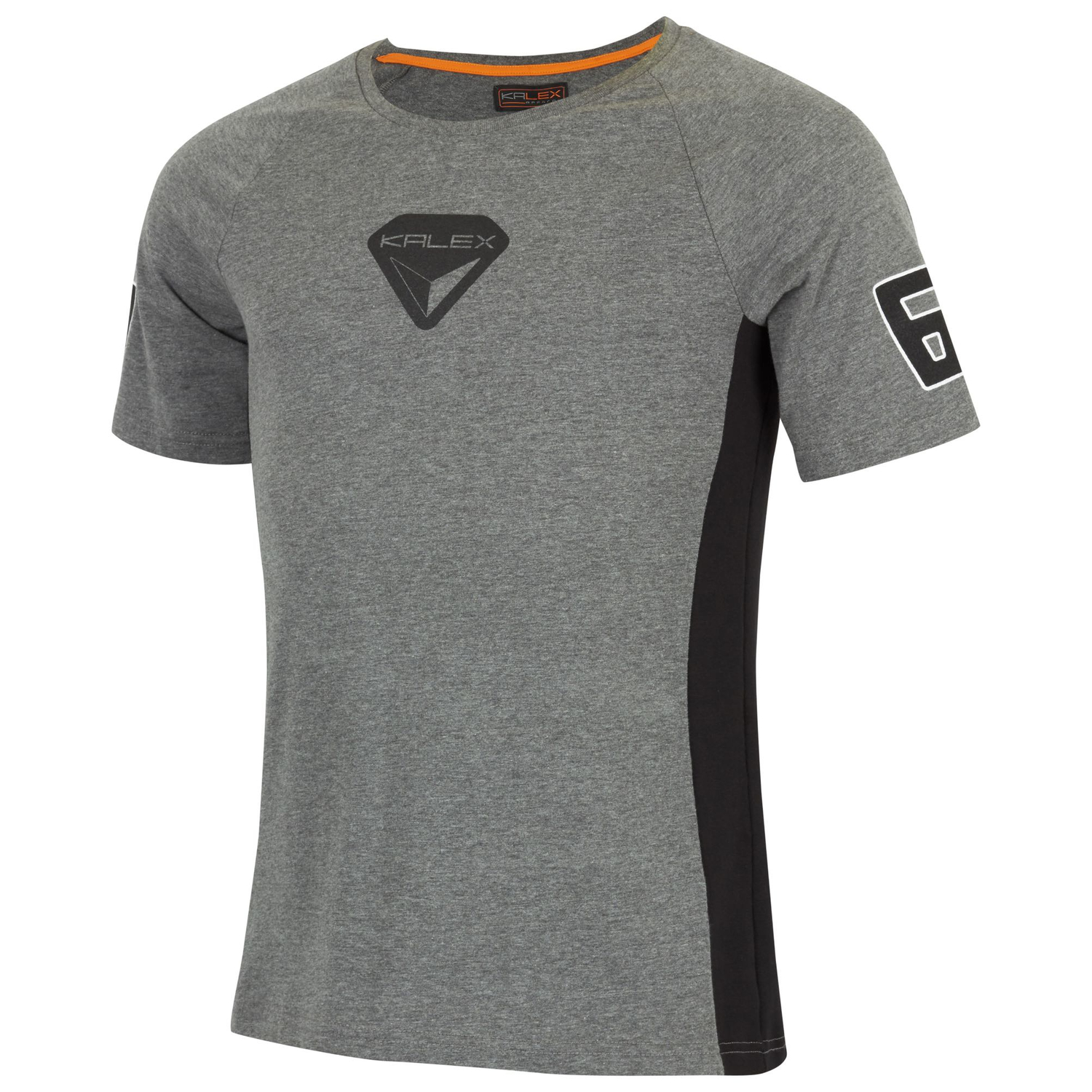 T-SHIRT SPEED DRUCK GRAU XXL