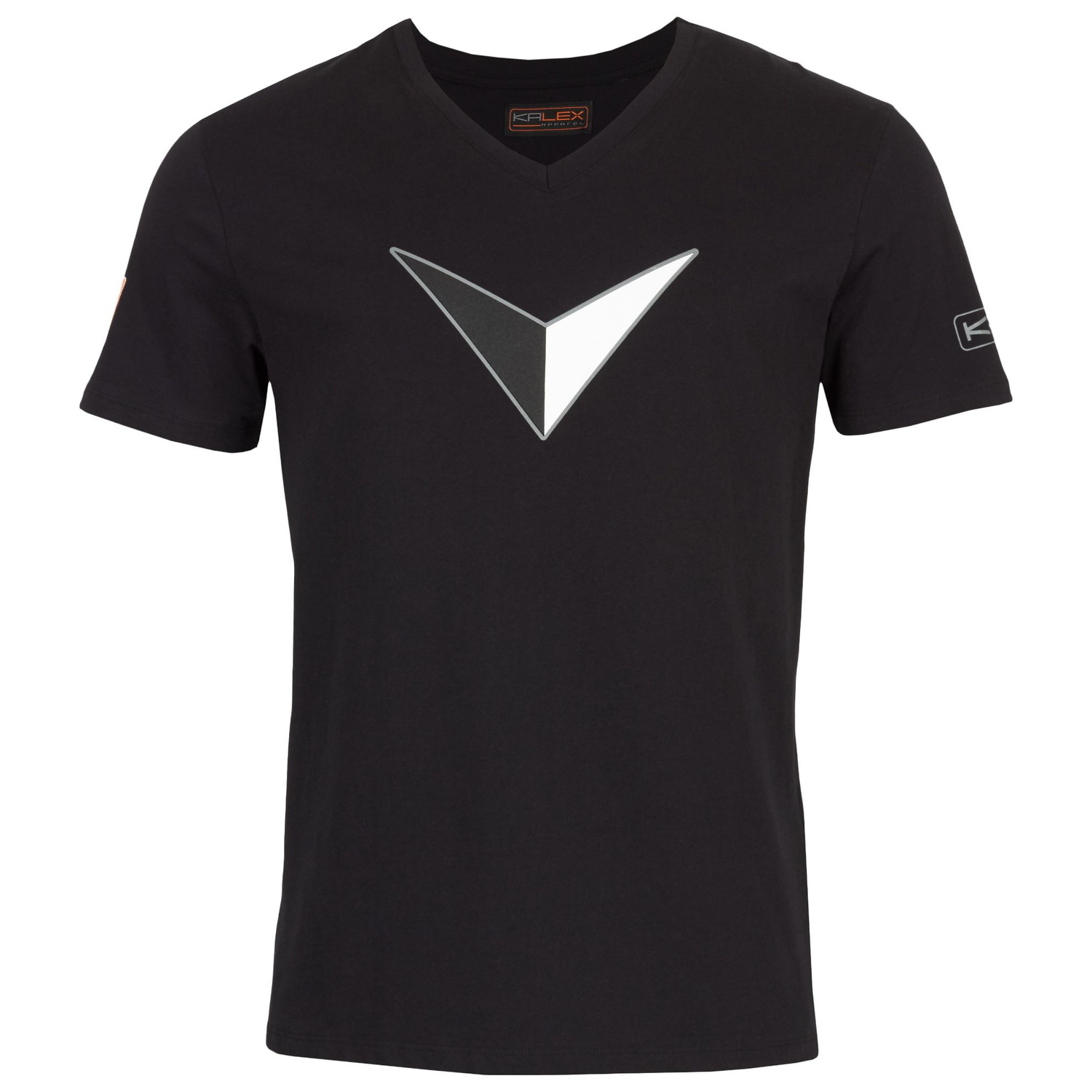 T-SHIRT BIG V BLACK XS