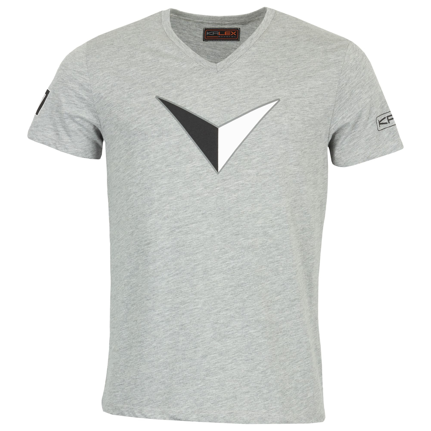 T-SHIRT BIG V DRUCK GRAU MELANGE  XL